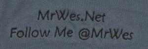 MrWes.Net logo on Blue shirt