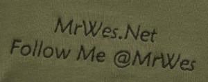 MrWes.Net logo on Green Shirt