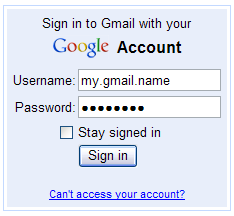 Sign into your Gmail Account